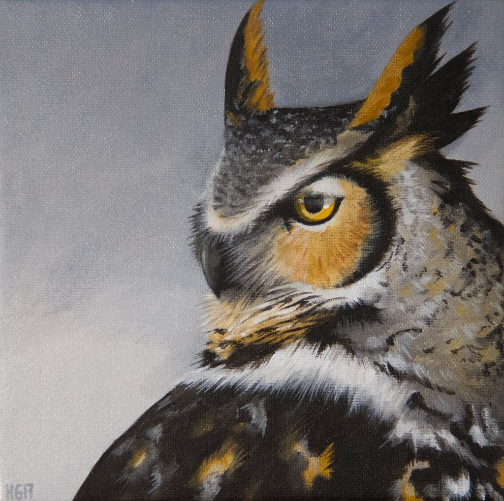 Horned Owl (side view), 2017.