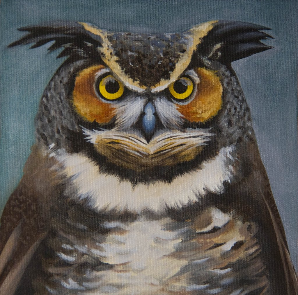 Horned Owl (front view), 2017.